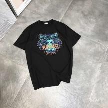 Kenzo老虎头圣诞配色印花T恤